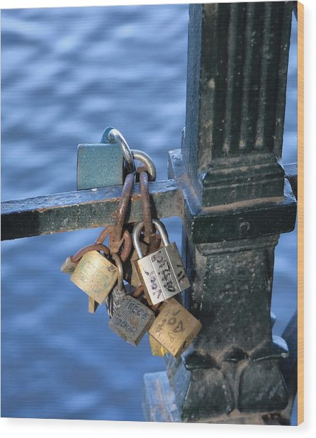 Love Lock Wood Print