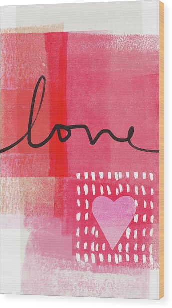 Love Notes- Art By Linda Woods Wood Print