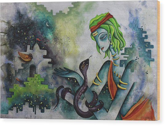 Love Of Shiva Wood Print
