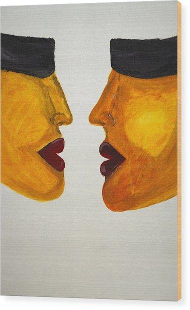 Love-on-line Wood Print by Irum Iftikhar