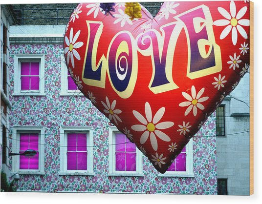 Love On The Roof Tops Wood Print by Jez C Self