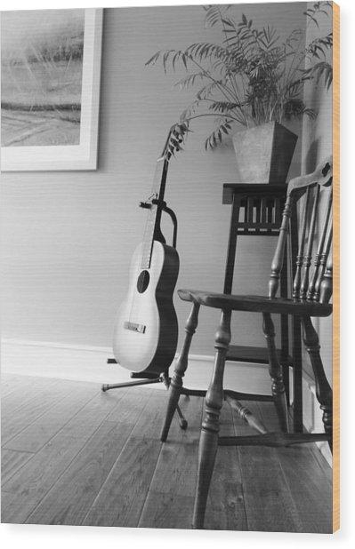 Love Strings Wood Print