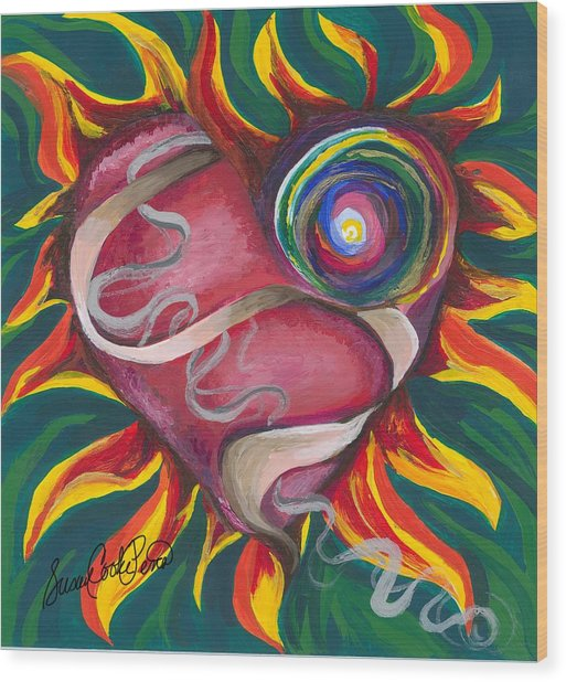 Love Wood Print by Susan Cooke Pena