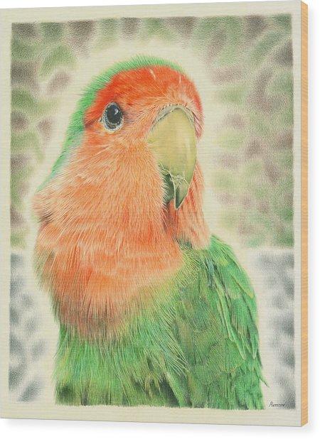 Lovebird Pilaf Wood Print