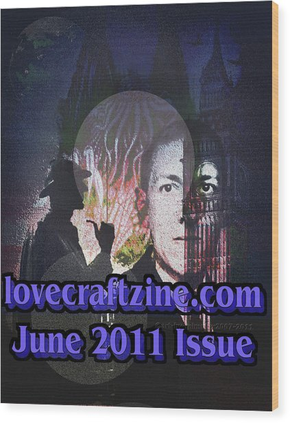 Lovecraftzine Coverpage June Wood Print