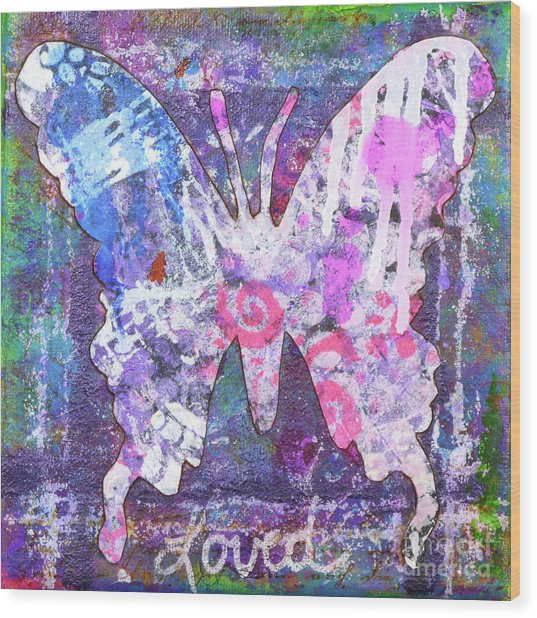 Loved Butterfly Wood Print