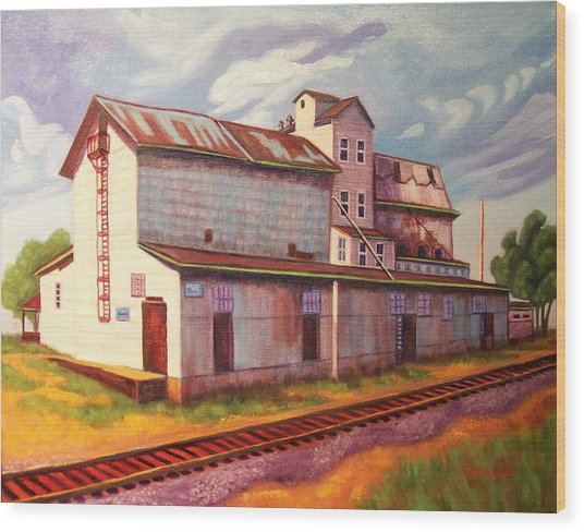 Loveland Feed And Grain Mill Wood Print