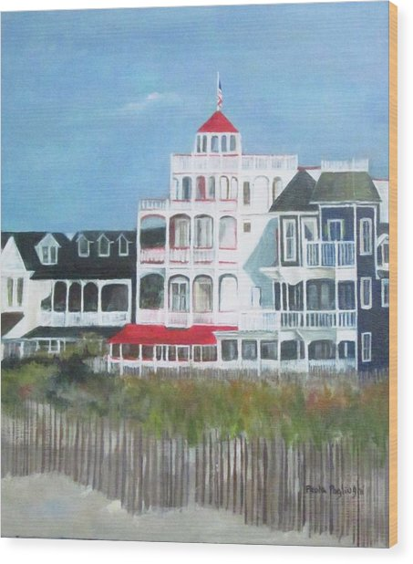 Lovely Cape May Wood Print