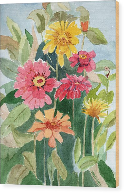 Lovely Flowers Wood Print