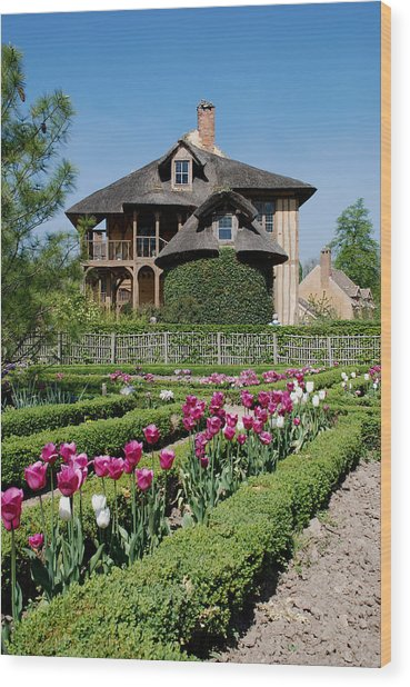 Lovely Garden And Cottage Wood Print