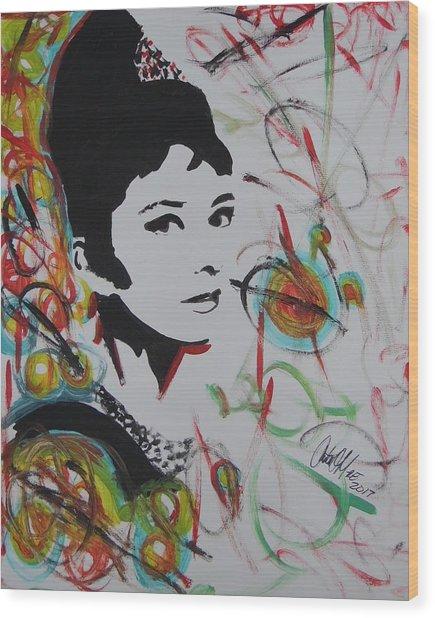 Lovely Hepburn Wood Print