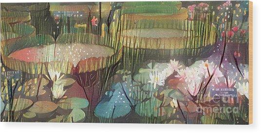 Lovely Waterlilies 1 Wood Print