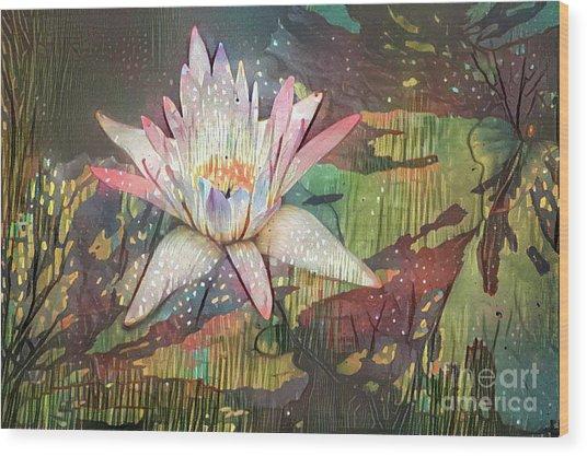 Lovely Waterlilies 2 Wood Print
