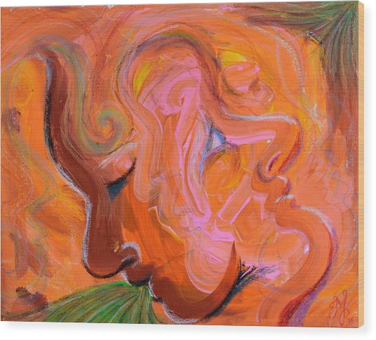 Lovers Quarrel Wood Print