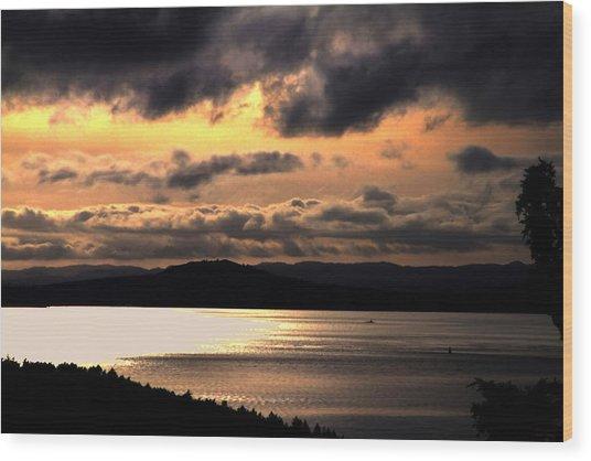 Lover's Sunset Wood Print