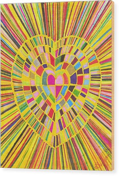 Loveshine Wood Print by Brenda Adams
