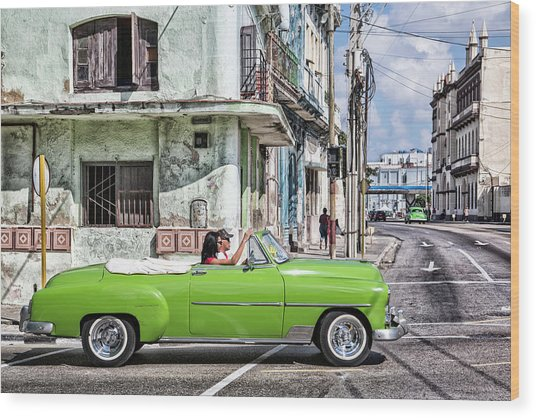 Wood Print featuring the photograph Lovin' Lime Green Chevy by Gigi Ebert