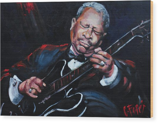 Lovin Lucille B B King Wood Print by Carole Foret