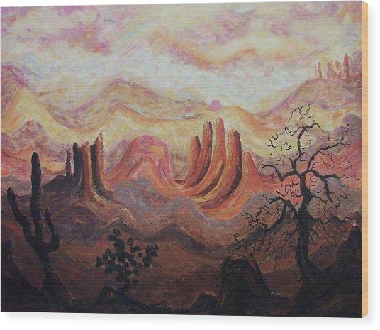 Loving Arizona Wood Print