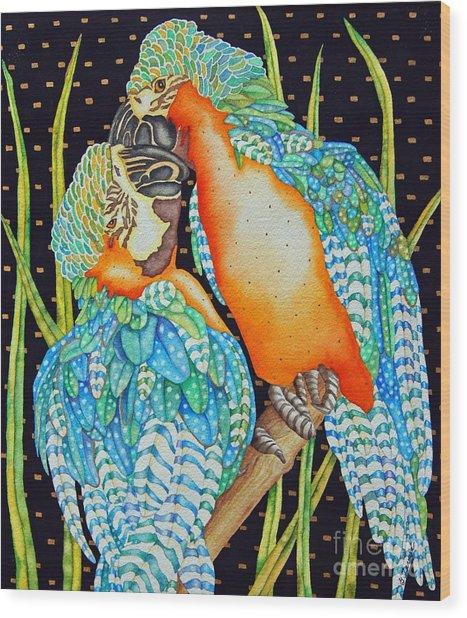 Loving Birds Wood Print by Gail Zavala