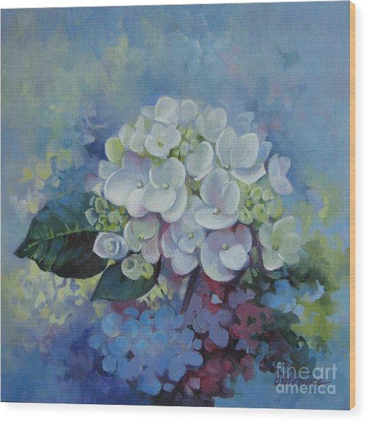 Loving Hydrangea Wood Print