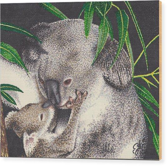 Loving Kiss Wood Print by Scarlett Royal