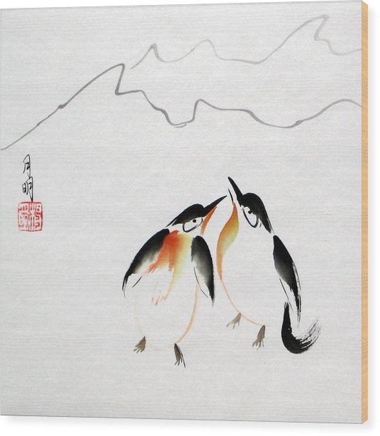 Loving Pair Wood Print by Ming Yeung