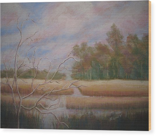 Low Country Wood Print by Shirley Braithwaite Hunt