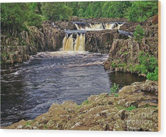 Low Force Waterfall, Teesdale, North Pennines Wood Print