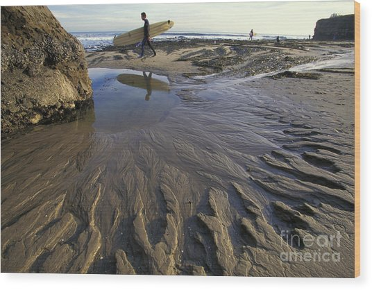 Low Tide At The Lane Wood Print by Stan and Anne Foster