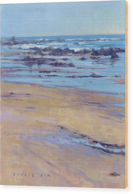 Low Tide / Crystal Cove Wood Print