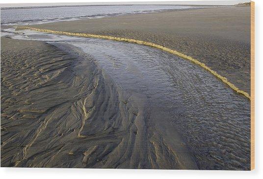 Low Tide Morning Wood Print