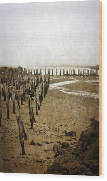 Low Tide Oregon Coast 2.0 Wood Print