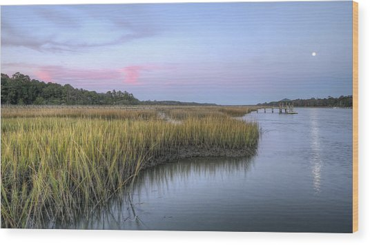 Lowcountry Marsh Grass On The Bohicket Wood Print