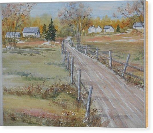 Lowcountry Road In Spring Wood Print