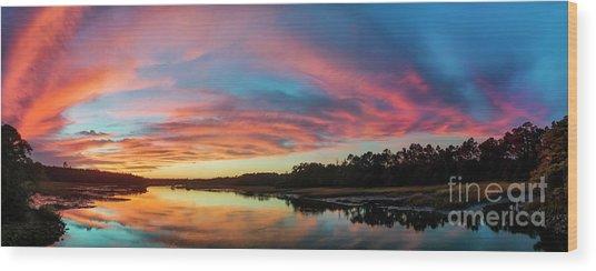 Lowcountry Sunset Charleston Sc Wood Print