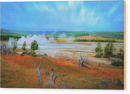 Lower Basin Wood Print