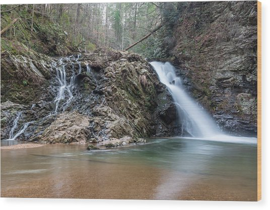 Lower Brasstown Falls Wood Print
