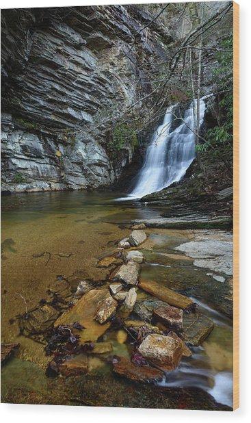 Lower Cascades Wood Print