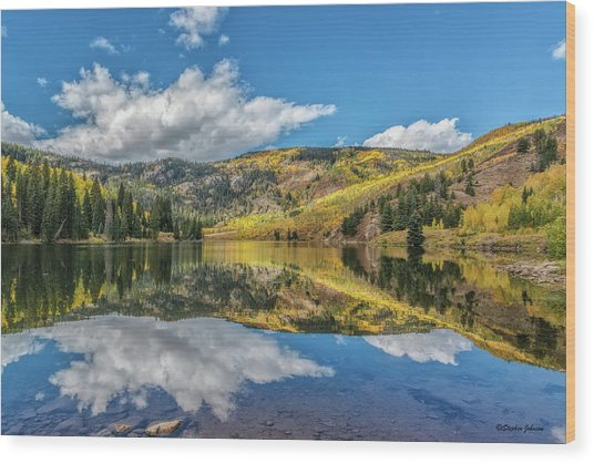 Lower Cataract Lake Aspen Wood Print