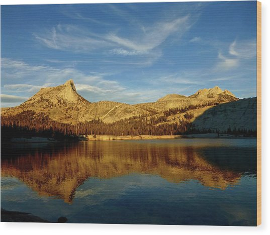 Lower Cathedral Lake Late Afternoon Wood Print