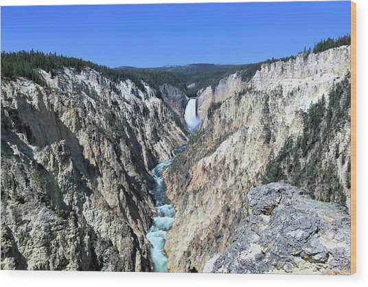Lower Falls From Artist Point Wood Print