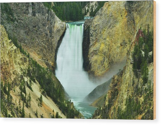 Lower Falls No Border Or Caption Wood Print