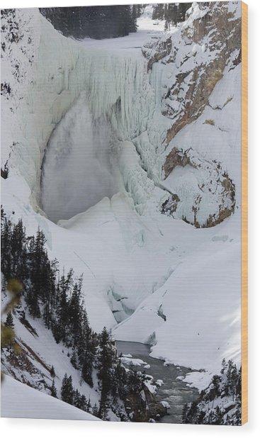 Lower Falls Of Yellowstone II Wood Print