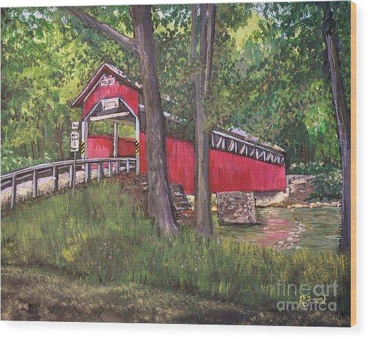 Lower Humbert Covered Bridge  Wood Print