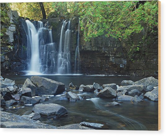 Lower Johnson Falls Wood Print