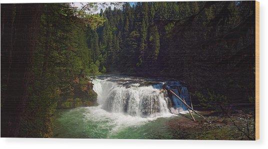 Lower Lewis Falls Wood Print