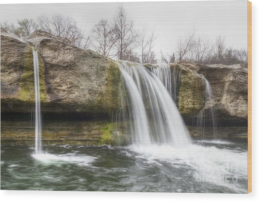 Lower Mckinney Falls Wood Print