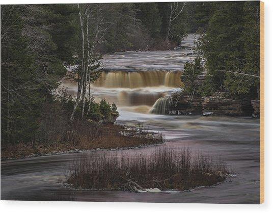 Lower Tahquamenon Falls Wood Print
