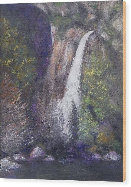 Lower Yosemite Falls Wood Print